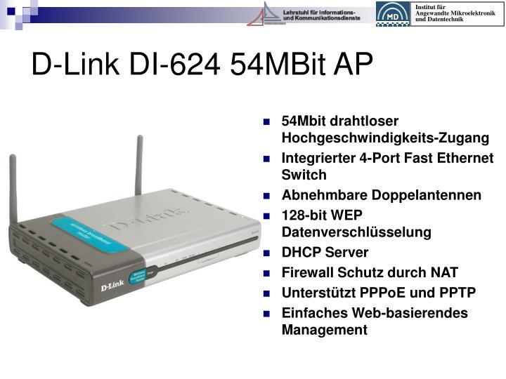 54Mbit drahtloser Hochgeschwindigkeits-Zugang