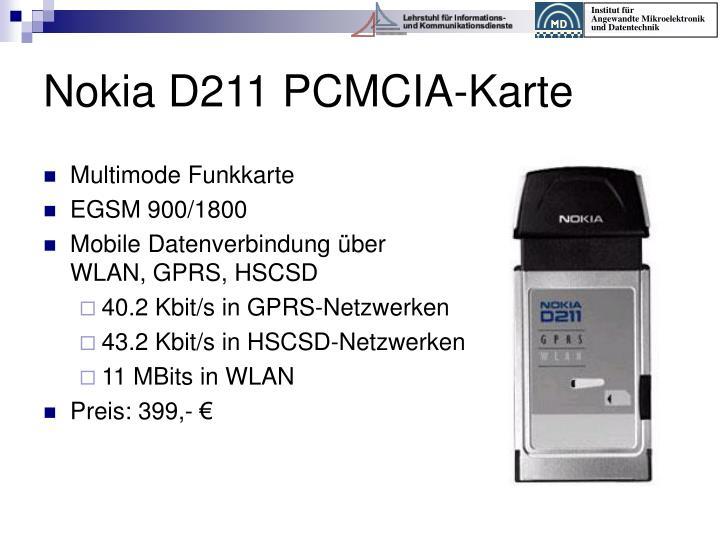 Nokia D211 PCMCIA-Karte