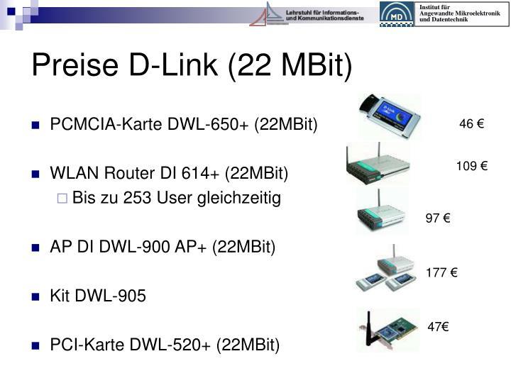 Preise D-Link (22 MBit)