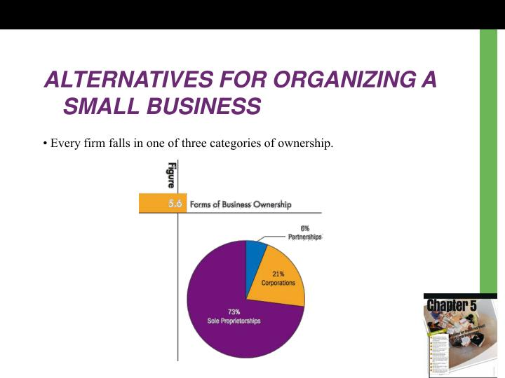 ALTERNATIVES FOR ORGANIZING A SMALL BUSINESS