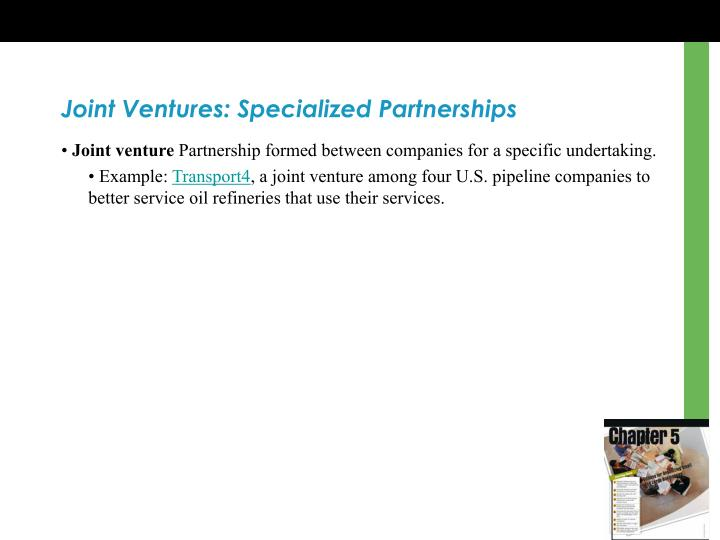 Joint Ventures: Specialized Partnerships