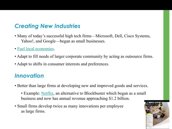 Creating New Industries