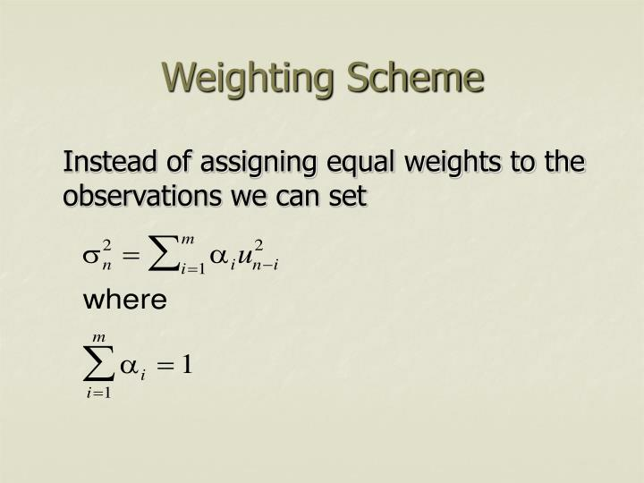 Weighting Scheme