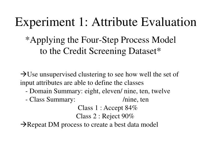 Experiment 1: Attribute Evaluation