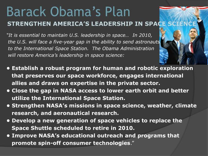 Barack Obama's Plan