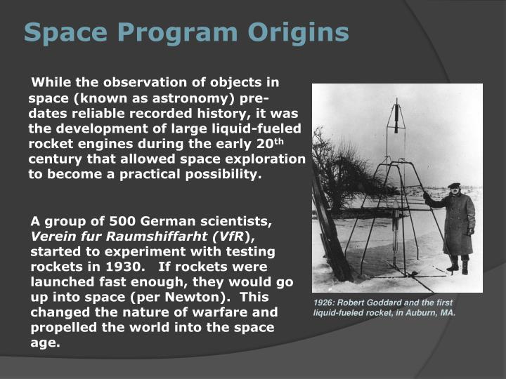 Space Program Origins