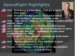 spaceflight highlights
