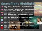 spaceflight highlights9