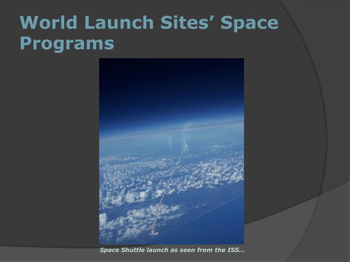 World Launch Sites' Space Programs