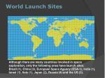 world launch sites