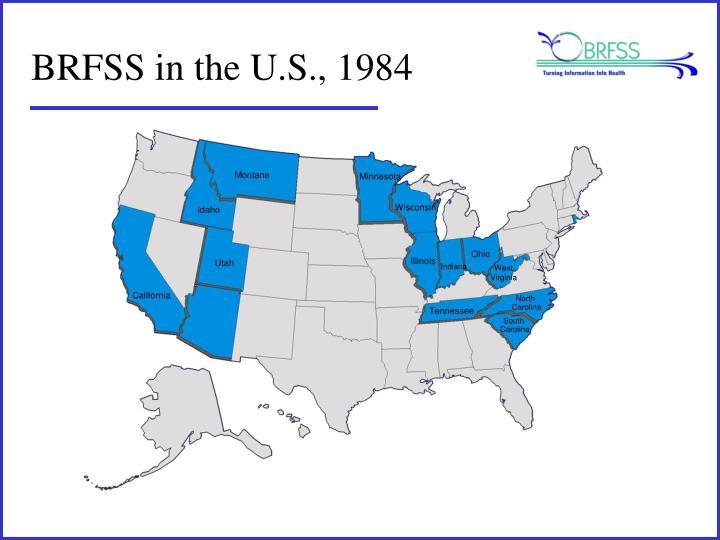 BRFSS in the U.S., 1984