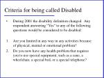 criteria for being called disabled1
