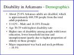 disability in arkansans demographics