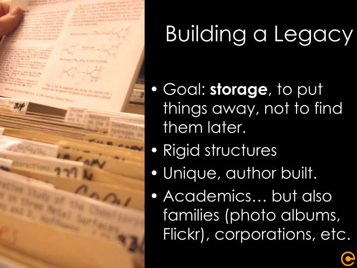 Building a Legacy