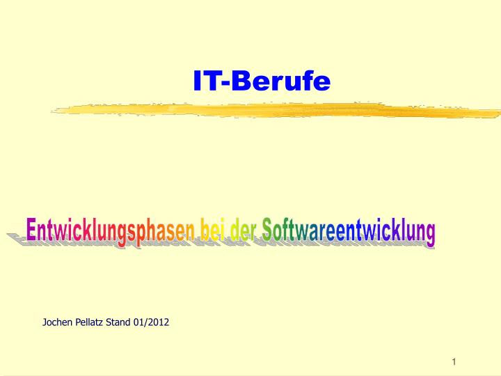 It berufe