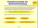 vorgehensmodelle der systementwicklung
