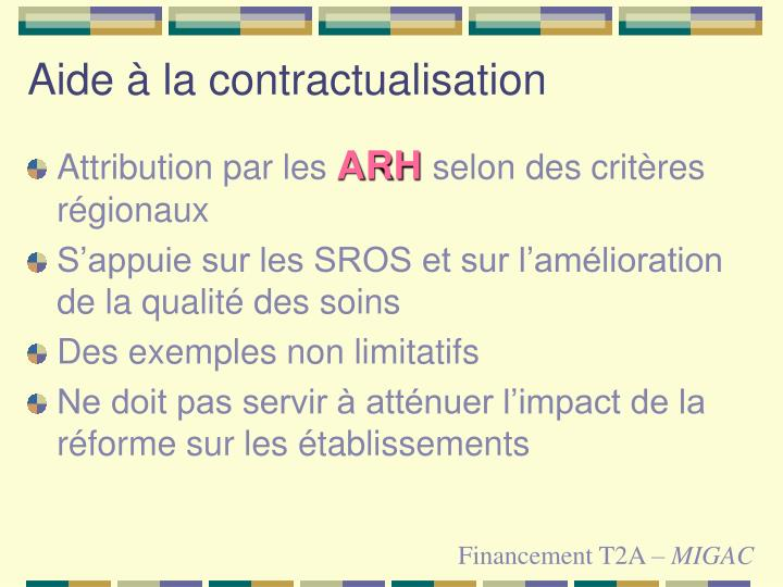 Aide à la contractualisation