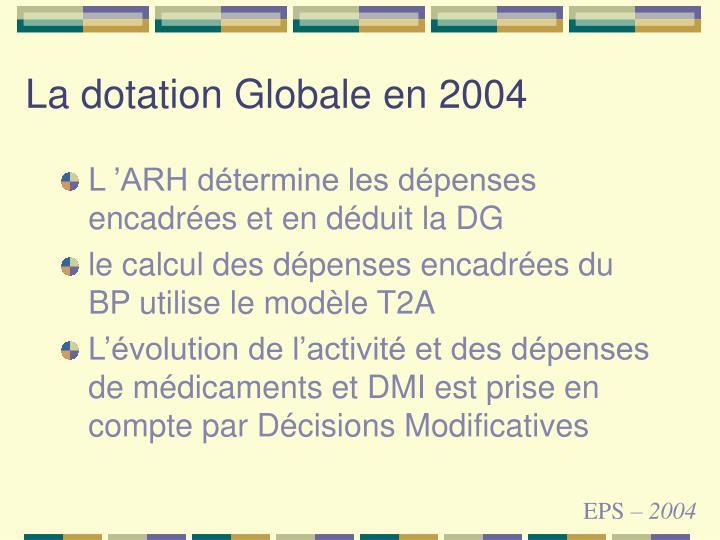 La dotation Globale en 2004