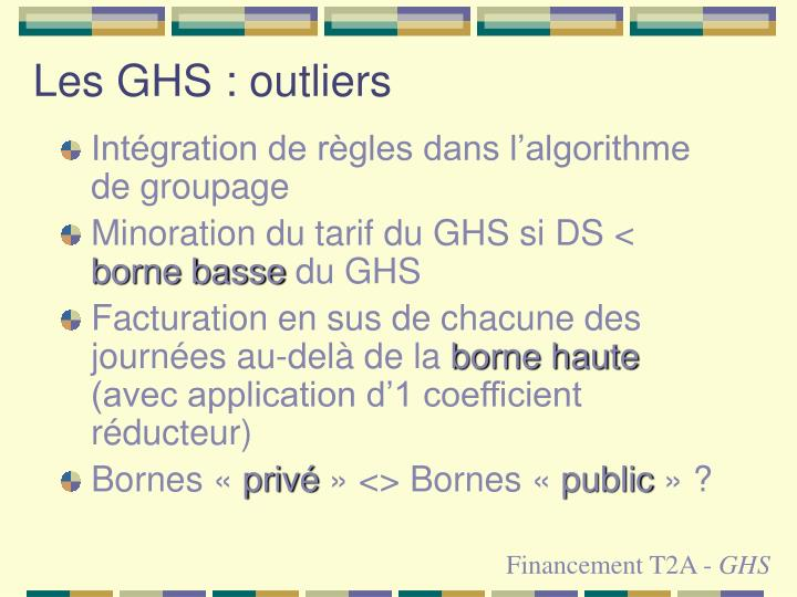 Les GHS : outliers