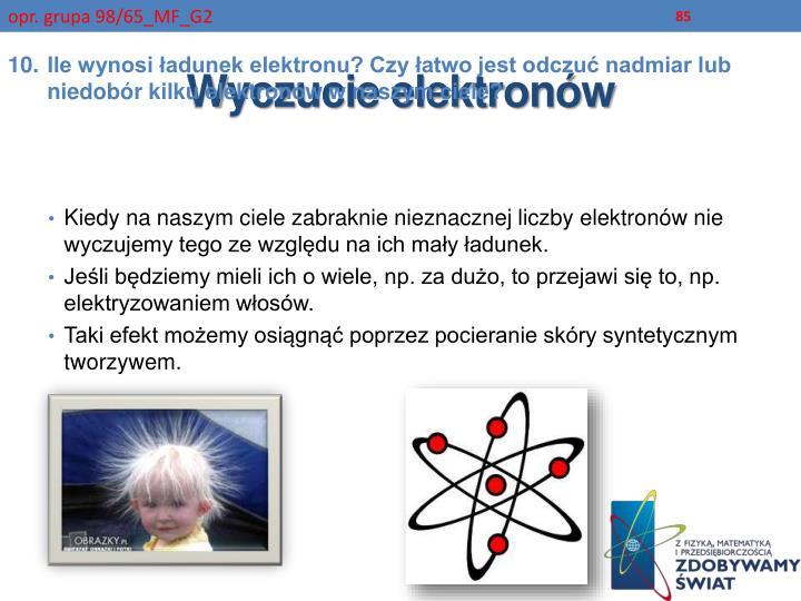 Wyczucie elektronów
