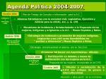 agenda pol tica 2004 2007