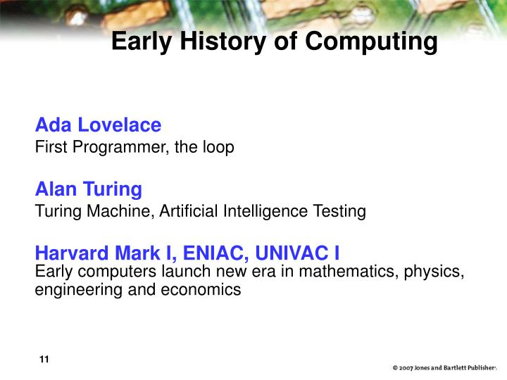 Early History of Computing