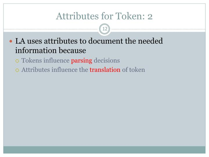 Attributes for Token: 2