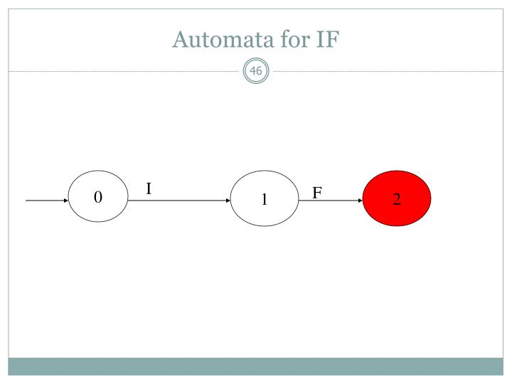 Automata for IF