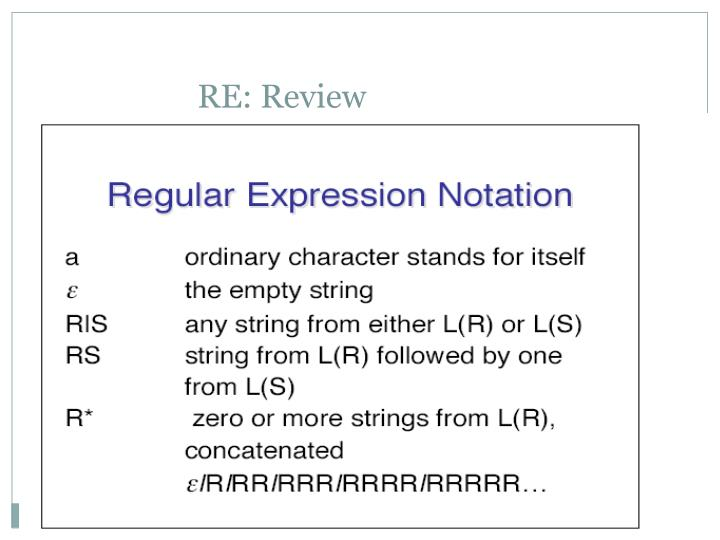 RE: Review