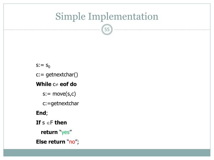 Simple Implementation