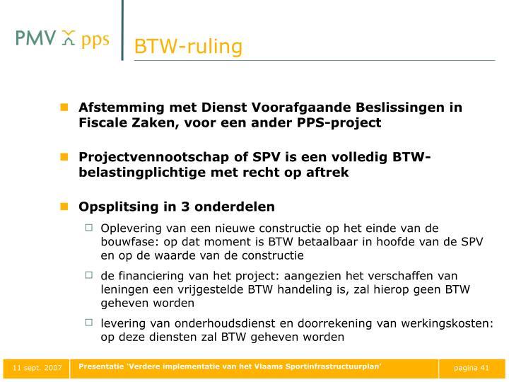 BTW-ruling