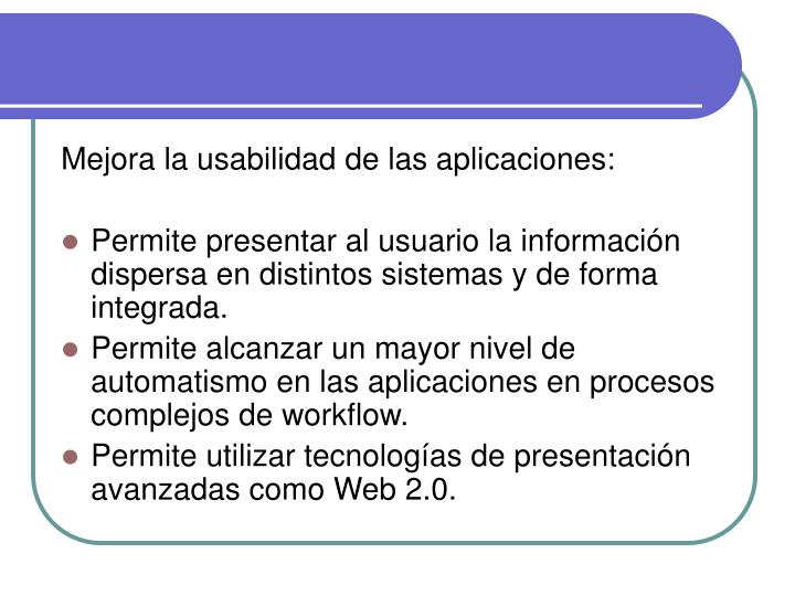 Mejora la usabilidad de las aplicaciones: