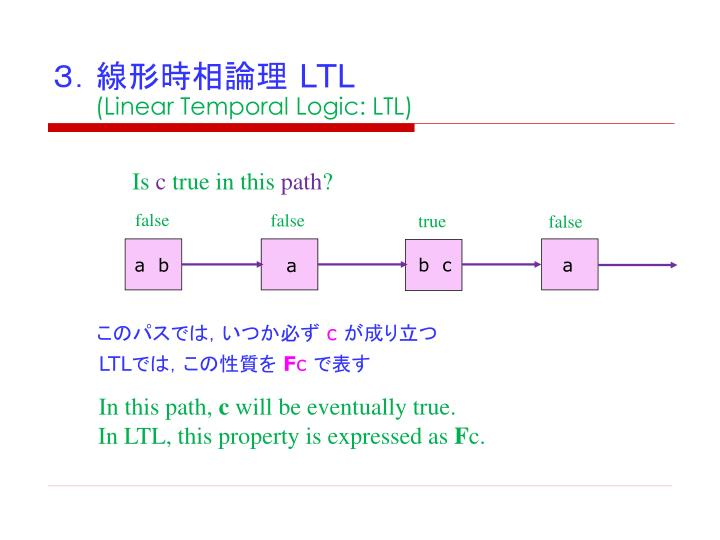 3.線形時相論理
