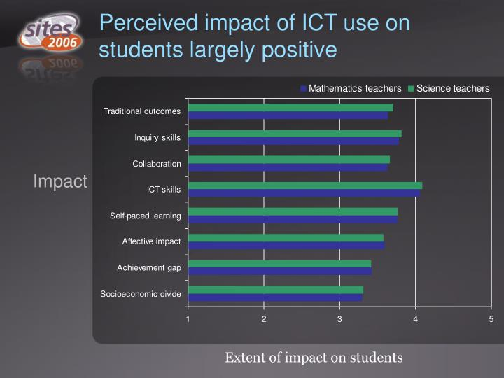 Perceived impact of ICT use on students largely positive
