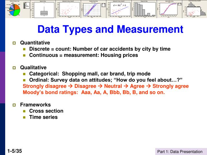 Data Types and Measurement