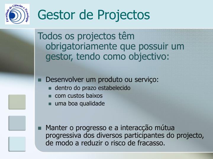 Gestor de Projectos