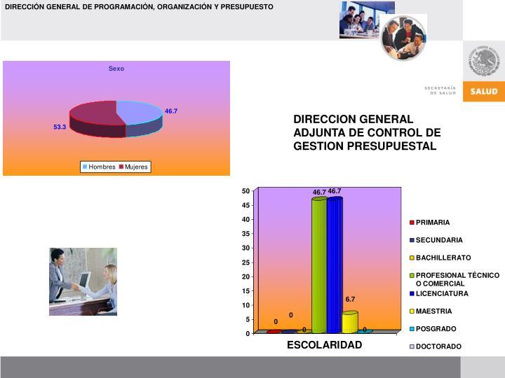 DIRECCION GENERAL ADJUNTA DE CONTROL DE GESTION PRESUPUESTAL
