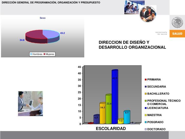 DIRECCION DE DISEÑO Y DESARROLLO ORGANIZACIONAL