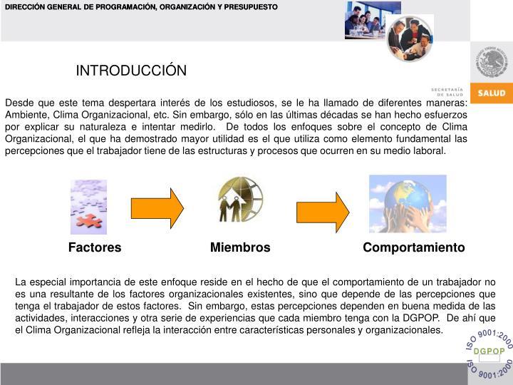 DIRECCIÓN GENERAL DE PROGRAMACIÓN, ORGANIZACIÓN Y PRESUPUESTO