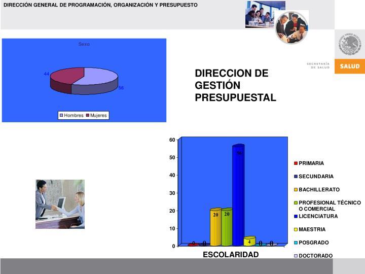 DIRECCION DE GESTIÓN PRESUPUESTAL