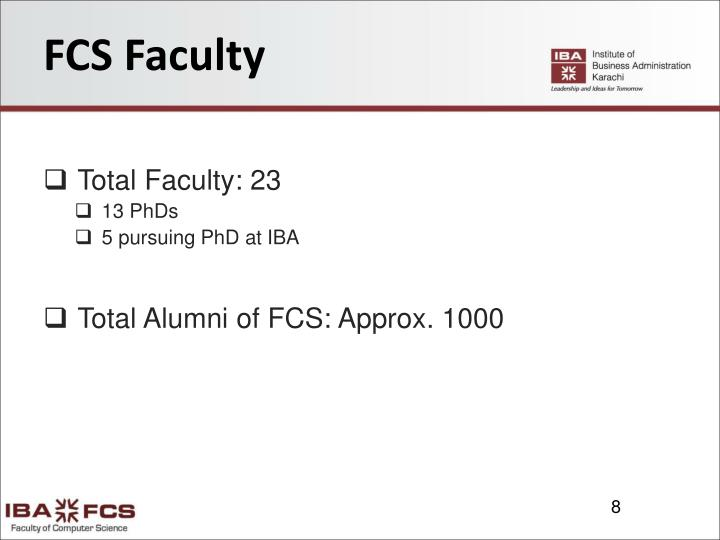 FCS Faculty