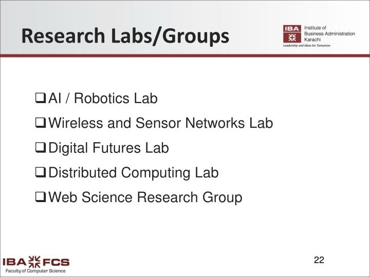 Research Labs/Groups