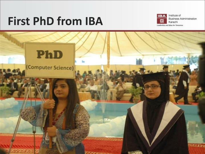 First PhD from IBA
