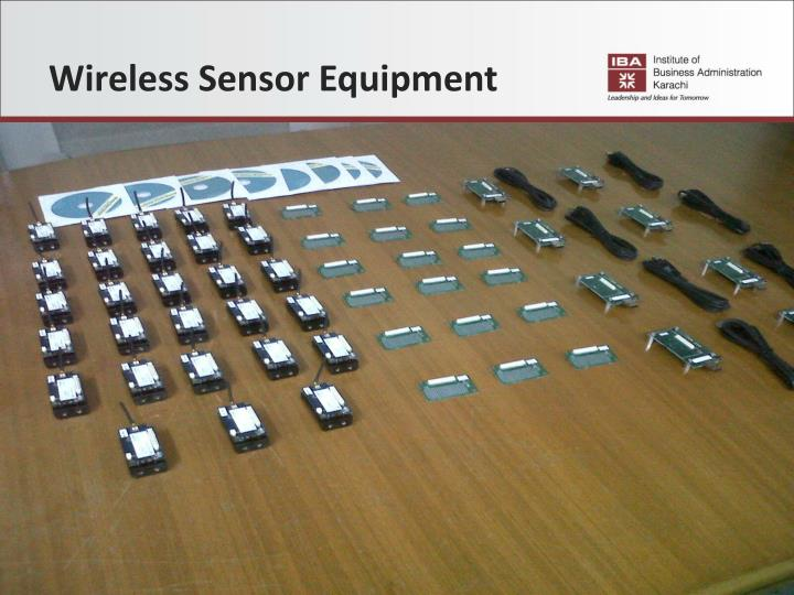 Wireless Sensor Equipment