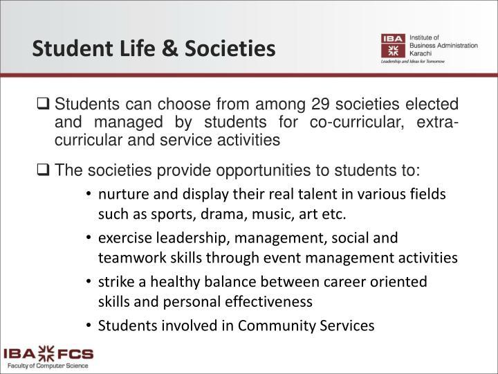 Student Life & Societies