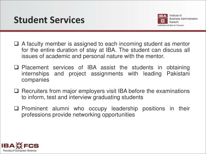 Student Services