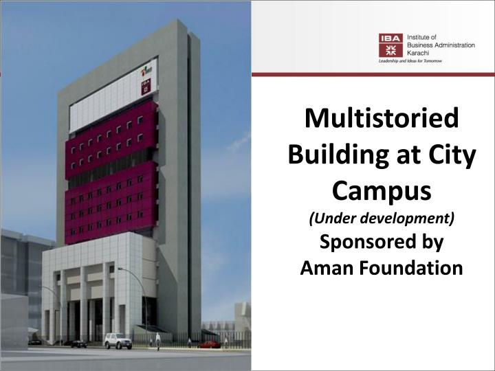 Multistoried Building at City Campus