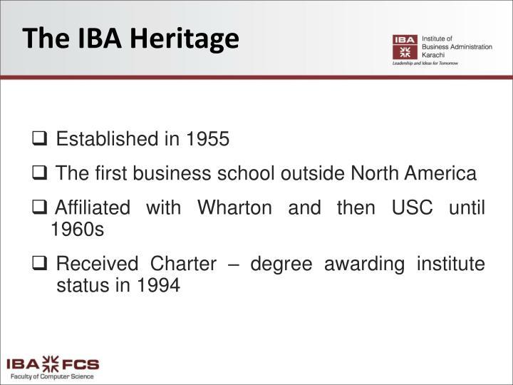 The IBA Heritage