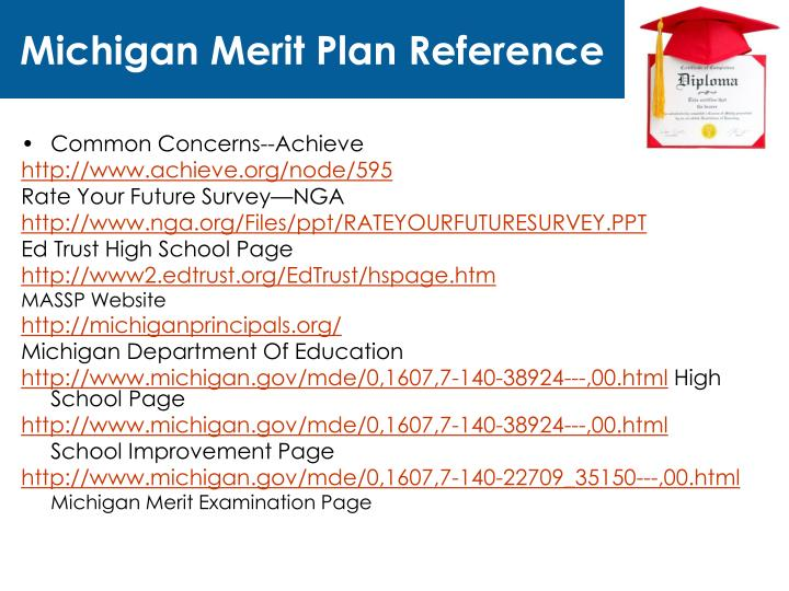 Michigan Merit Plan Reference