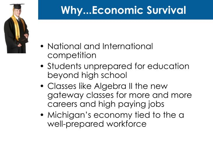 Why...Economic Survival